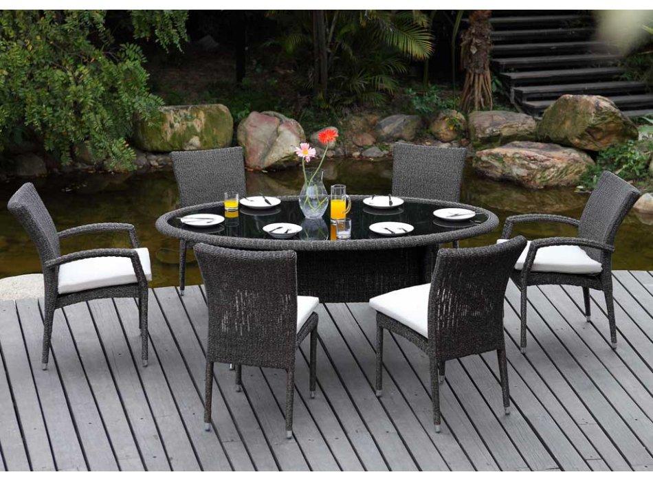 La r sine tress e est la mati re pour votre mobilier de for Vente mobilier jardin