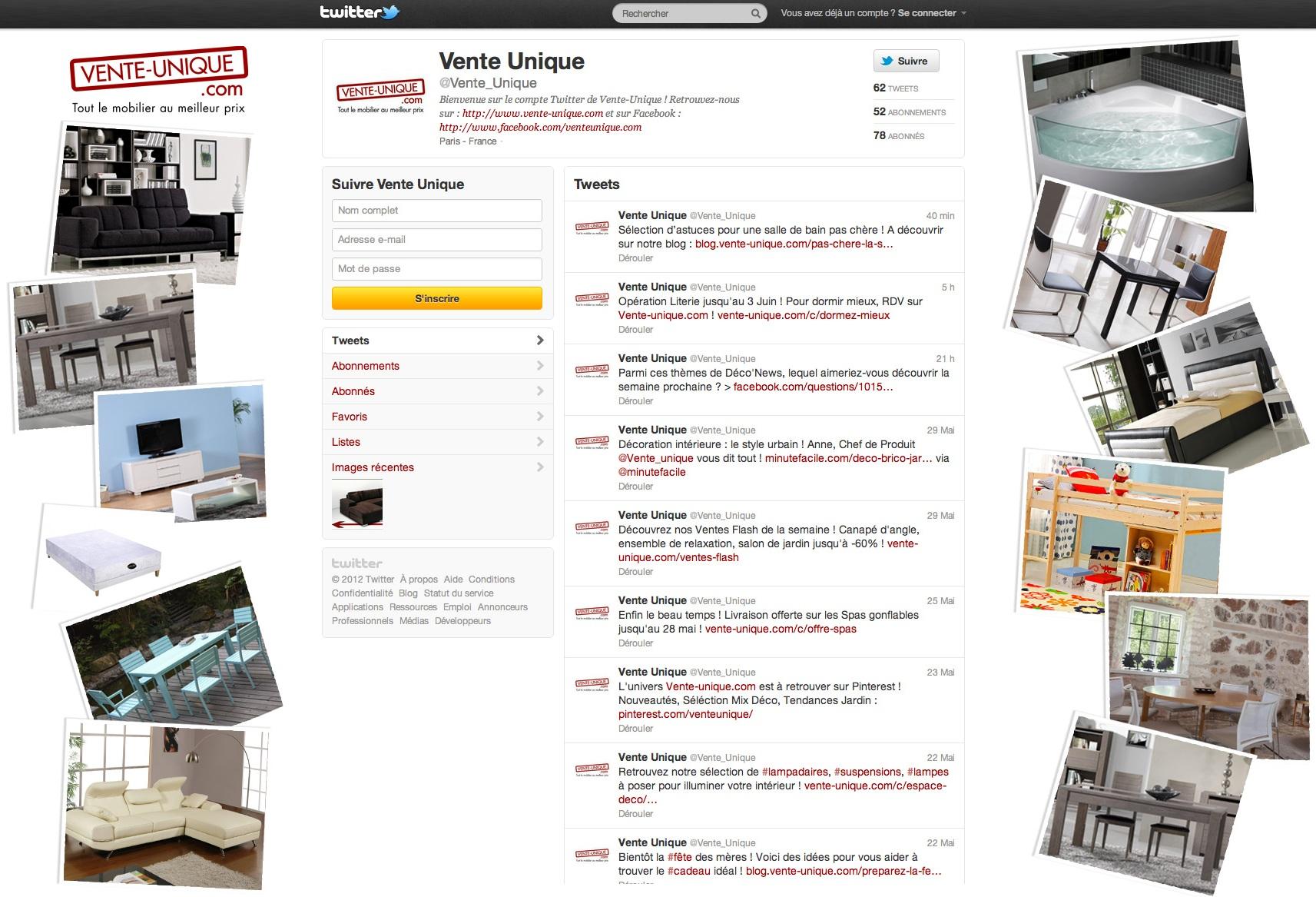 Suivez nous sur twitter vente unique le blog de vente - Vente unique com mon compte ...