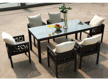 Une table de jardin design et color e le blog de vente - Table a manger exterieur ...