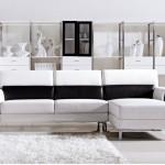 Canapé AGATHON bicolore blanc et noir design en soldes