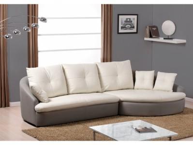 Canapé d'angle cuir CAPRICCIO