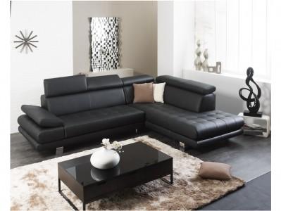 Canapé d'angle cuir EFFLEUREMENT