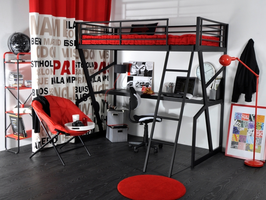 lits mezzanines chacun son style le blog de vente. Black Bedroom Furniture Sets. Home Design Ideas