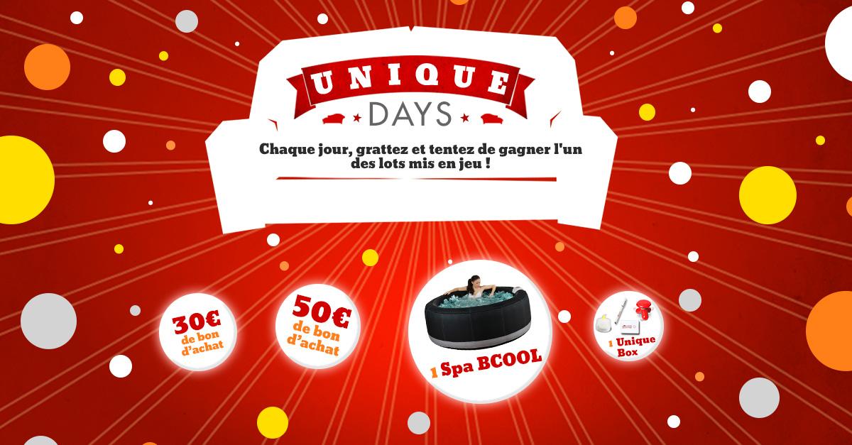 Grand jeu facebook unique days le blog de vente - Vente unique com mon compte ...
