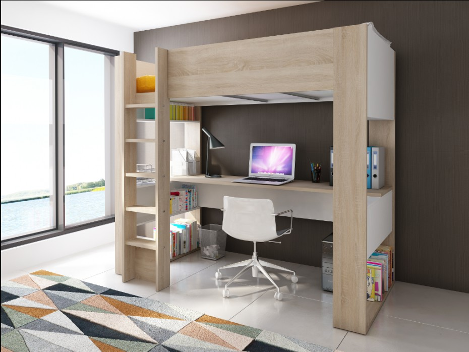 Lits mezzanine la solution ad quate pour votre maison le blog de vente un - Lit mezzanine studio ...