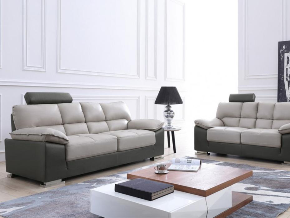 Canapé cuir contemporain