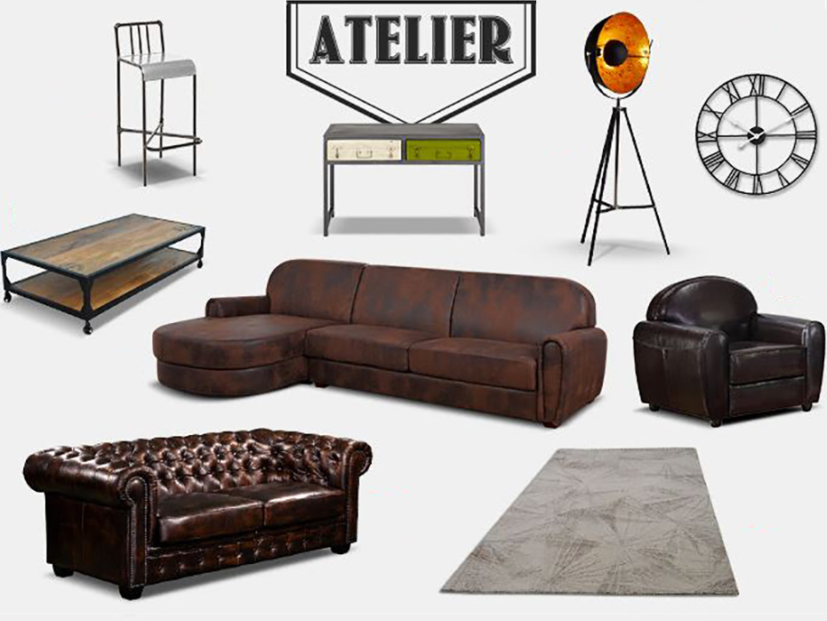 une d co de style atelier la liste shopping le blog de. Black Bedroom Furniture Sets. Home Design Ideas