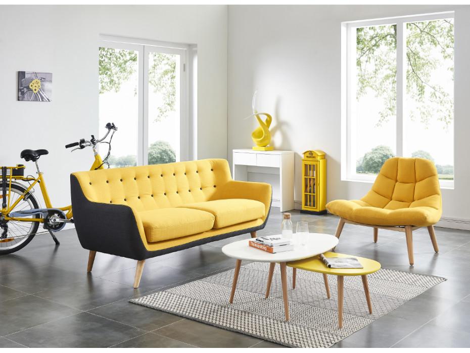 Le canapé jaune et pourquoi pas? - Le blog de Vente-unique.com
