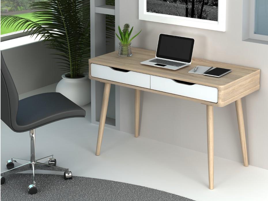 Bureau bois blanc nyarf design sur sofactory